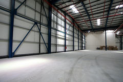Storage hall. Empty storage hall in a factory Stock Images