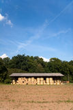 Storage of hay bale Stock Photography