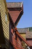 Storage house detai in Bergen. Storage house detail in Bergen in Bryggen district, an old former Hanseatic city district Stock Images