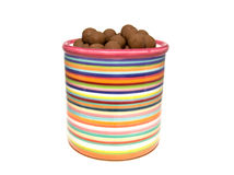 Storage jar with chocolate Royalty Free Stock Photos