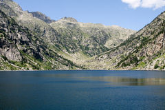 Storage Lake in Spanish Pyrenees.  Stock Images