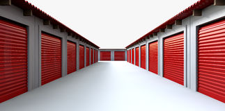 Storage Lockers Perspective Royalty Free Stock Photography