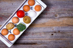 Storage and management of food in the fridge Stock Photography