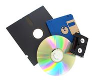 Storage Media. An Assortment of Storage Media stock photos