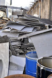 Storage of metal waste production Royalty Free Stock Photos