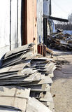 Storage of metal waste production Stock Image