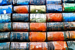 Storage of oil drums Stock Photos