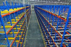 Storage pallet racking system for storage distribution centre Royalty Free Stock Photography