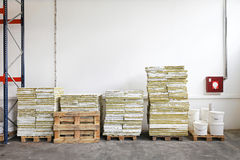 Storage pallets Royalty Free Stock Image