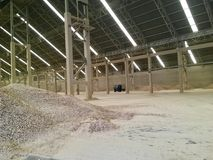 Storage part. Raw material in factory Royalty Free Stock Photo
