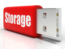 Storage Pen drive Means Storage Unit Or Data Stock Photography