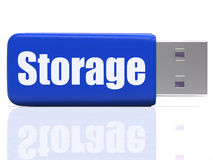 Storage Pen drive Shows Data Backup Or Stock Images