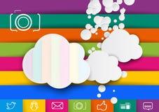 Storage pictures cloud design template Stock Photos