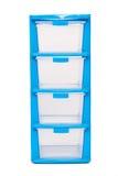 Storage plastic box on isolated white background Stock Images