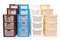 Storage plastic box on isolated white background Stock Photo