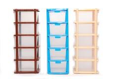 Storage plastic box on isolated white background Royalty Free Stock Photography