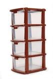 Storage plastic box on isolated white background Royalty Free Stock Images