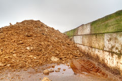 Storage of poultry dung Stock Photos