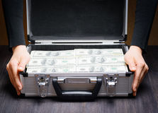 Storage and protection of cash and valuable items Stock Image