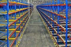 Storage racking pallet system for warehouse metal shelving distr Royalty Free Stock Photo