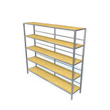 Storage racks. A storage racks on white background Royalty Free Stock Photography