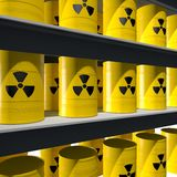 Storage of radioactive material Stock Photos
