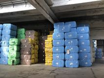 Storage of raw material on production royalty free stock photo