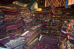 Storage room of a carpet merchant Royalty Free Stock Images
