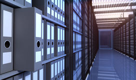 Storage room. Files in the storage room Royalty Free Stock Photography