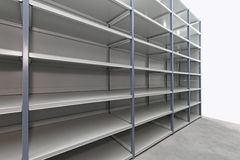 Storage room shelves Royalty Free Stock Image