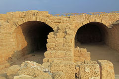 Storage Rooms in Caesarea Maritima National Park Royalty Free Stock Image