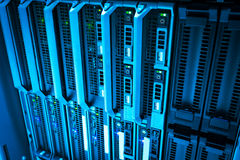 Storage servers in data room Domestic Room stock images