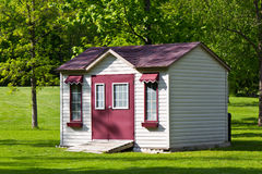 Storage shed in the backyard Stock Photography