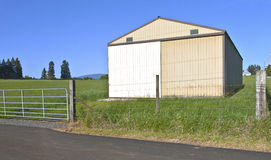 Storage shed in a field Oregon. Stock Photography