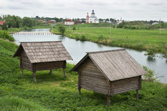 Storage shed nineteenth century in Russia Royalty Free Stock Photo
