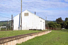 Storage Shed at Railway Station in Midlands, Kwazu. Storage shed at railway station in midlands, kwazlulu-natal royalty free stock images