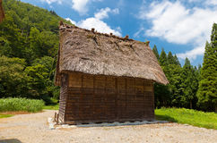 Storage shed of Takeda Seijiro House in Ogimachi gassho style vi. Storage shed of Takeda Seijiro House circa 19th c. in Ogimachi gassho style village of Royalty Free Stock Photos