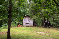 Storage shed Stock Image