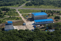 Storage sheds in Petropavlovsk-Kamchatsky. Royalty Free Stock Photo
