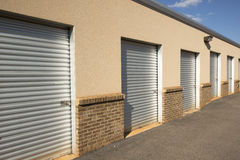 Storage Sheds. At a public horse park Royalty Free Stock Image