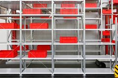 Storage shelves Stock Image