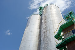 Storage silo Stock Photo