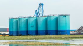 Storage silo for grain Stock Photo