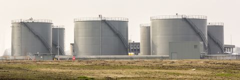 Storage silo for grain Stock Image