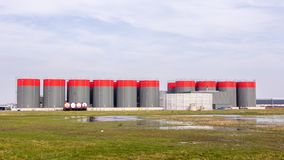 Storage silo for grain Royalty Free Stock Images