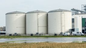 Storage silo for grain Stock Photography