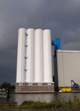 Storage silos. In Wormerveer, the netherlands Stock Photo