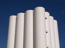Storage silos. In Wormerveer, the Netherlands Royalty Free Stock Photography