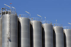 Storage silos Royalty Free Stock Images