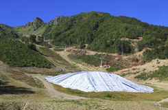 Storage of snow in the mountains. Of Krasnaya Polyana Stock Images